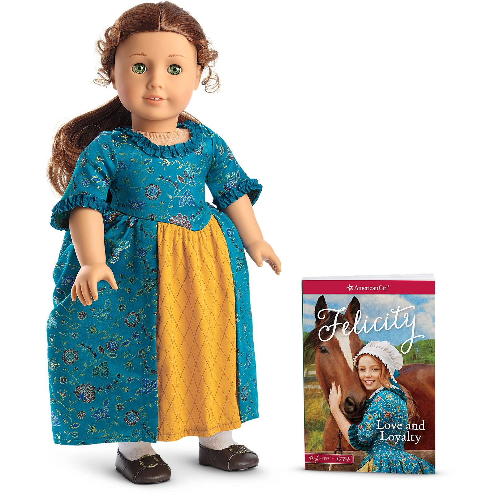 Felicity American Girl Doll Retired Pleasant Company Meet Outfit Garter ONLY