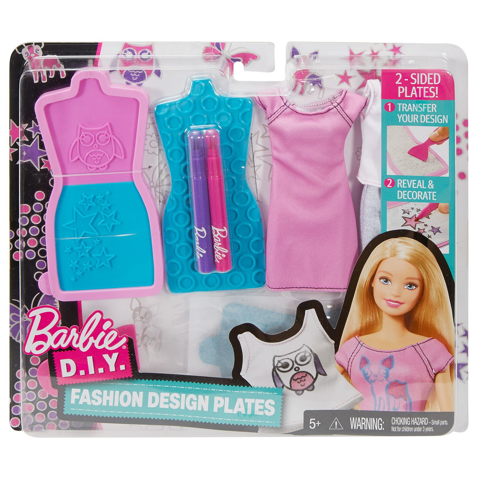 Barbie D I Y Fashion Design Plates Dyv67 Barbie