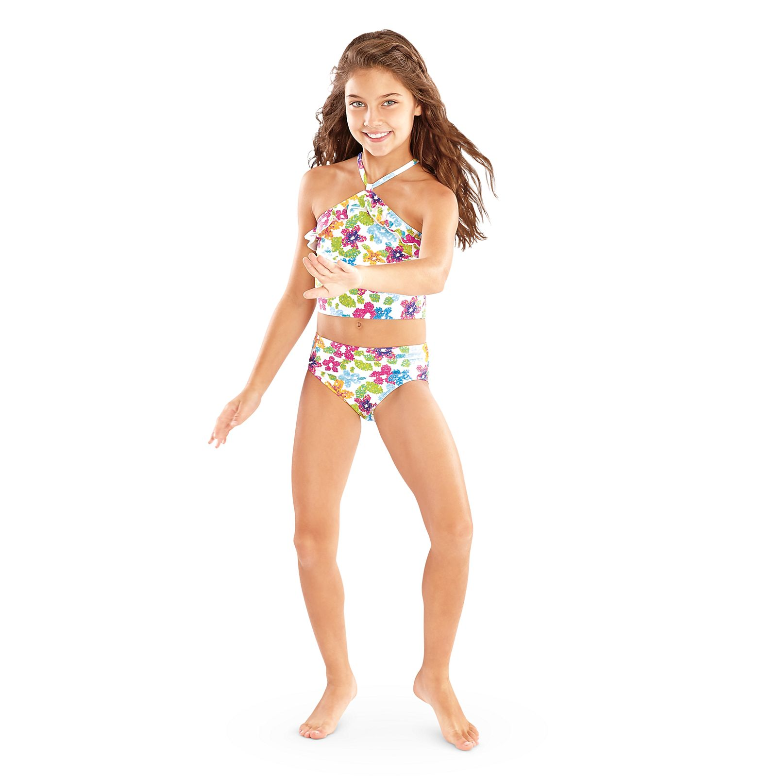 Floral Swimsuit For Girls Truly Me American Girl