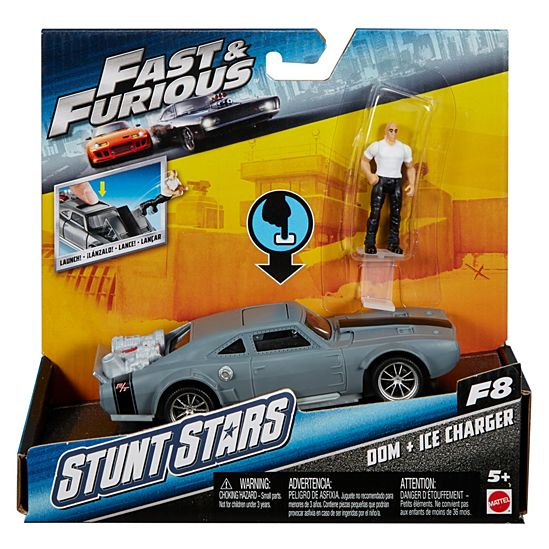 Top Fast & Furious Stunt Stars Dom + Ice Charger Vehicle | FCG29  EJ08