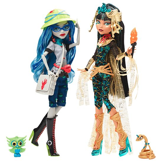 monster high cleo de nile ghoulia yelps 2 pack fcl36 mattel