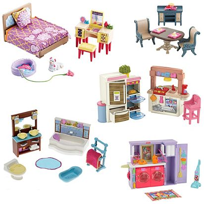Loving Family Rooms Furniture Gift Set Fcn59 Fisher Price