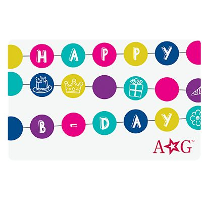 american girl happy b day gift card - Birthday Gift Card