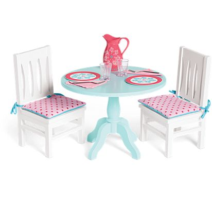 American Table Chairs Set For Dolls