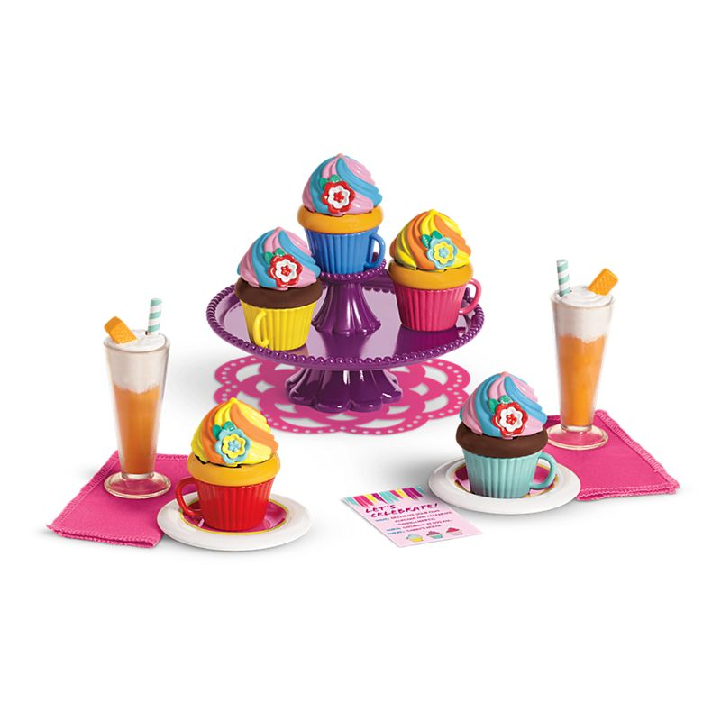 American Girl Gabriela's Colorful Cupcake Set