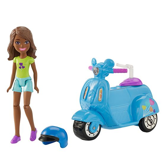 Barbie On The Go Blue Scooter and Doll