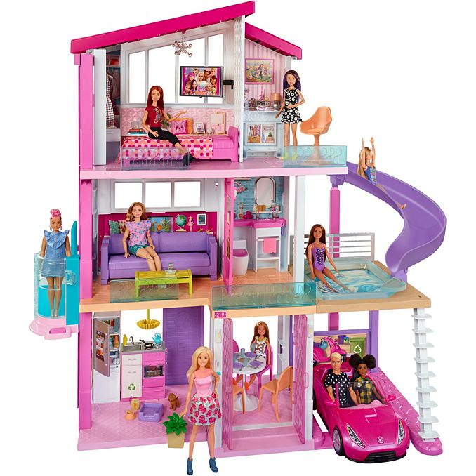 Barbie Dream House Dollhouse W Pool Slide Elevator Fhy73 Barbie