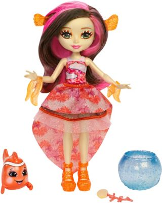 Enchantimals Clarita Clownfish Doll & Cackle Water Animal Figure