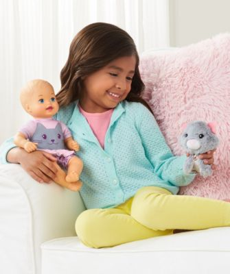 Little Mommy Cuddle and Care Doll & Plush Pet