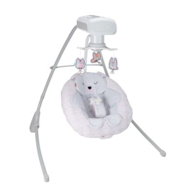 dual motion baby swing with music Exclusive sounds Fisher-Price Deluxe Cradle n Swing: Fawn Meadows and motorized mobile