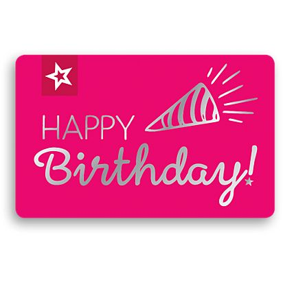 Birthday Celebration Gift Card American Girl