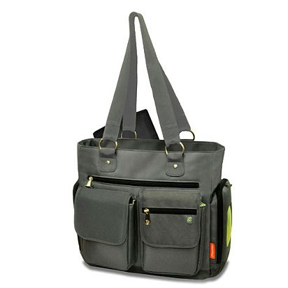 66f001e863a4 Image for Deluxe Fashion Diaper Tote with the FastFinder™ Pocket System  (Gray) from
