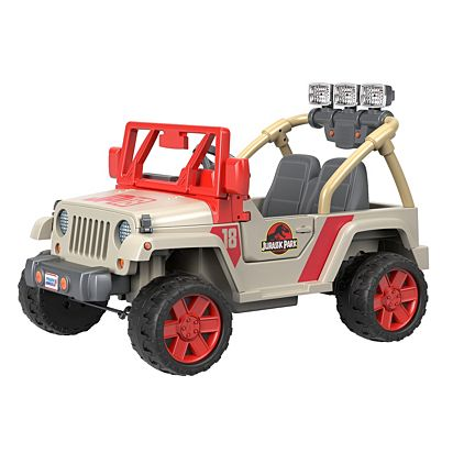 Power Wheel Tire Mods, Image For Jurassic Park Jeep From Mattel, Power Wheel Tire Mods