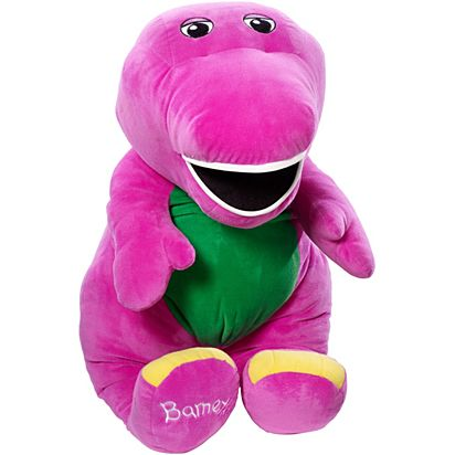 Speak N Sing Jumbo Barney Plush Figure Frd52 Fisher Price
