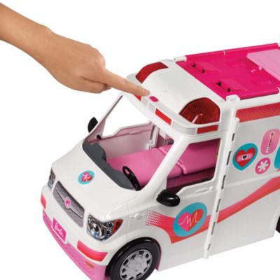 Barbie Care Clinic Vehicle EMS Ambulance Paramedic Toy Doll Accessory Play Set