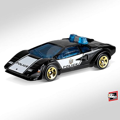Lamborghini Countach Police Car Fyc79 Hot Wheels Collectors