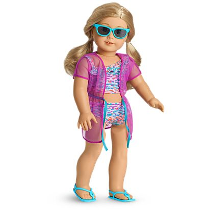 c8fa345a9c5 Summer Fun Swimsuit Set for 18-inch Dolls