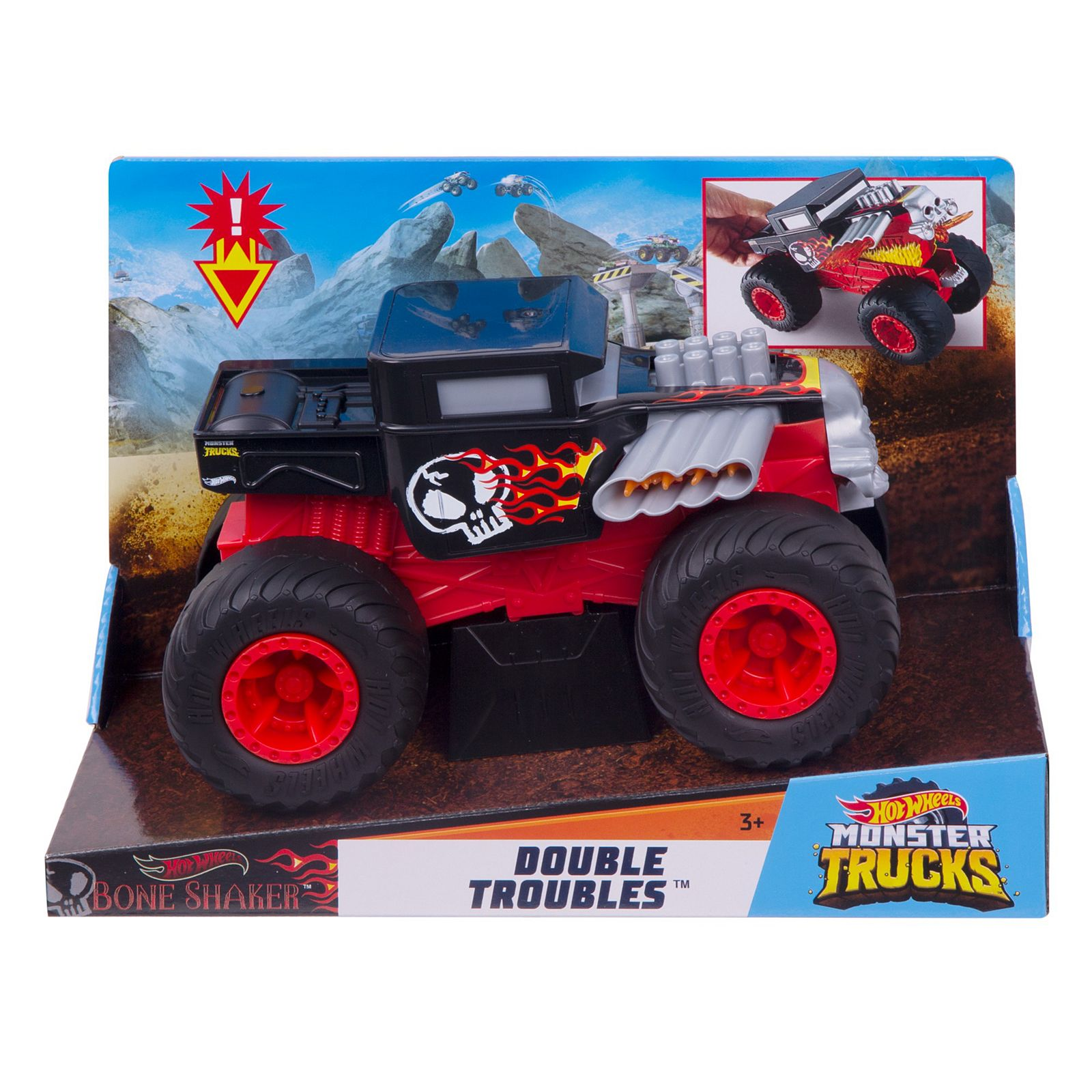 Hot Wheels Monster Trucks 1 24 Double Troubled Vehicle Collection Gcg06 Hot Wheels Shop