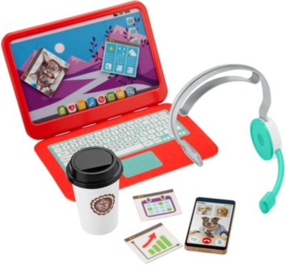 My Home Office 8 Piece Playset Pretend Play Fisher Price
