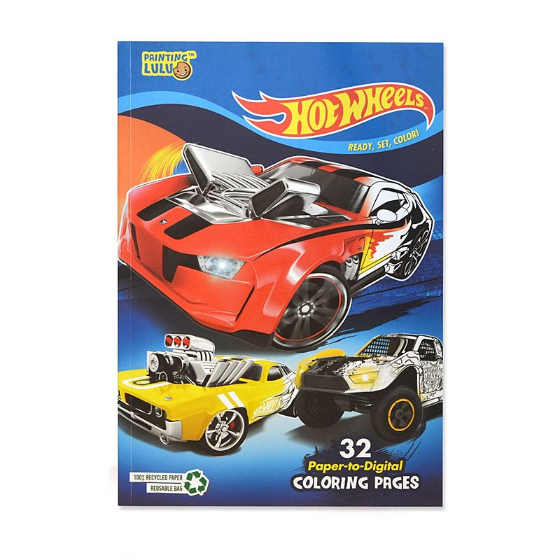 Hot Wheels Coloring Book Pack 32 Paper To Digital Coloring Pages