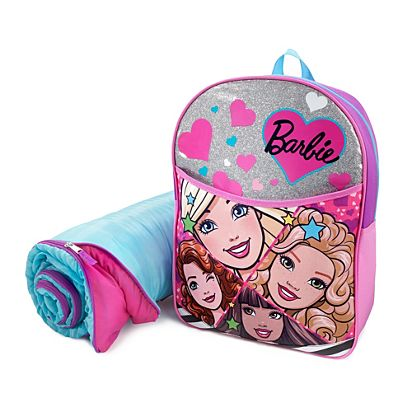 Image for Barbie backpack with Sleeping Bag from Mattel 6b5dc659ad