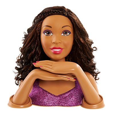 Barbie Color Cut Curl Styling Head African American Mpl999996