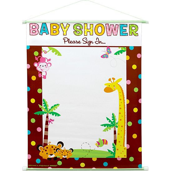 Fisher Price Jungle Baby Shower Sign In Sheet Pc00474 Fisher Price