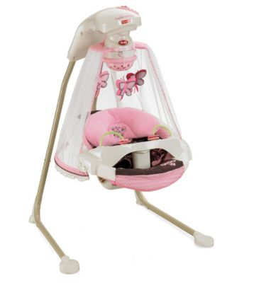 Cradle N Swing Mocha Butterfly Fisher Price
