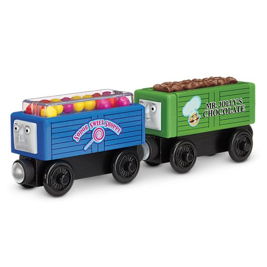 Thomas Friends Wooden Railway Troublesome Trucks And Sweets