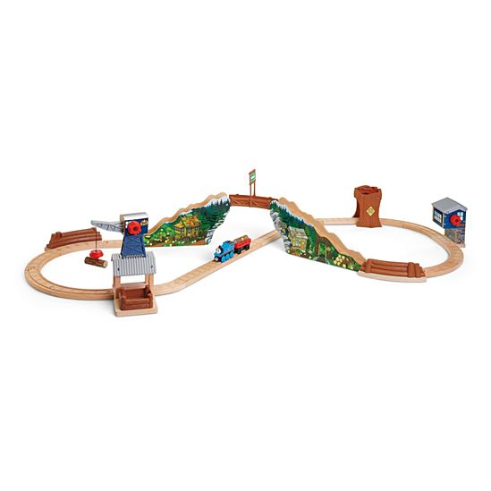 Thomas Friends Wooden Railway Tidmouth Timber Co Deluxe Figure 8 Set